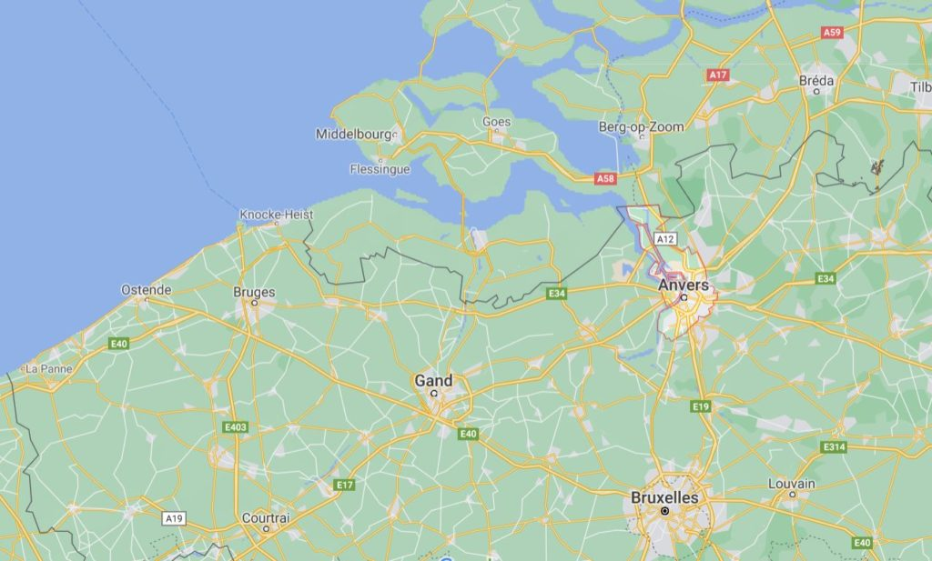 Pierre François LENGLET, carte de la région d'Anvers