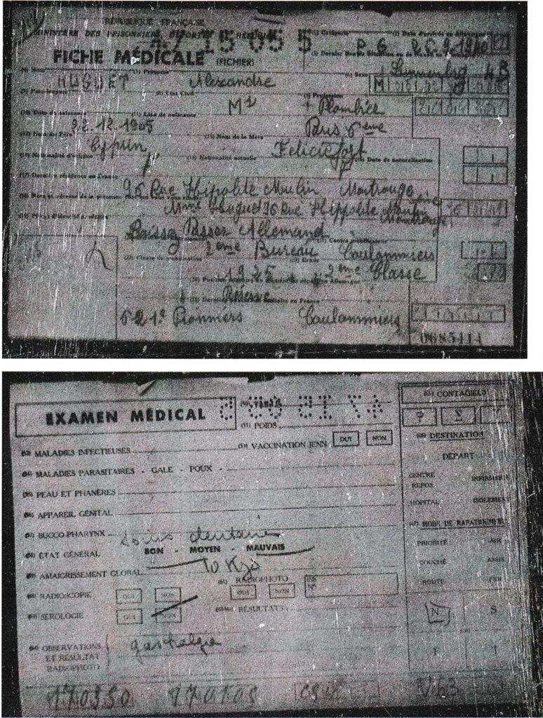 Alexandre HUGUET, fiche médicale