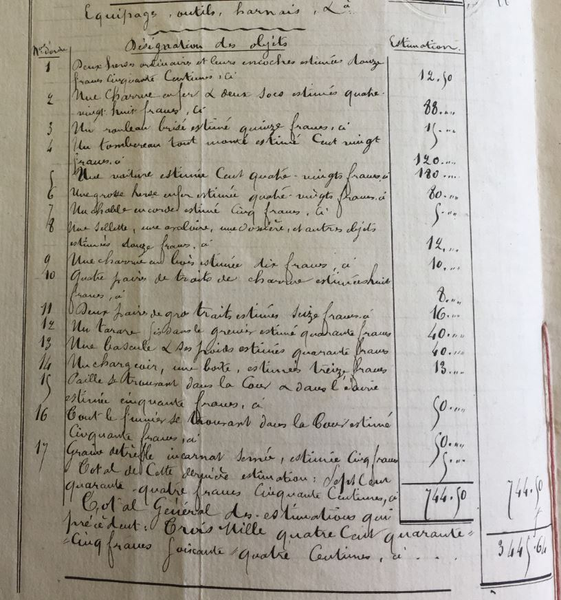 Cession agricole MEUNIER père et fils, AD Oise, 2 E 38/383
