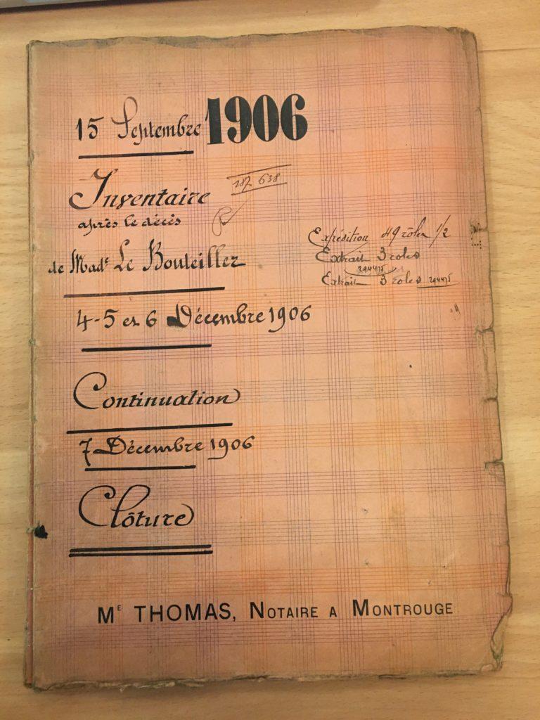 Inventaire après décès d'Alice Marguerite CHALOT