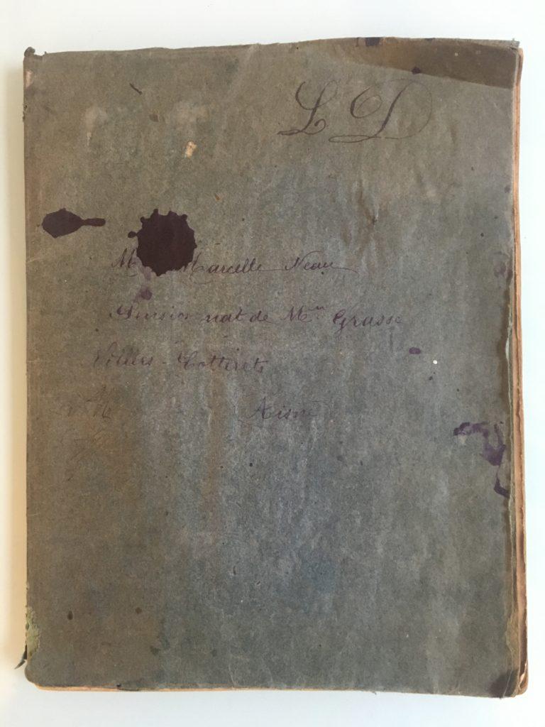 Cahier de poésies de Marcelle NEAU