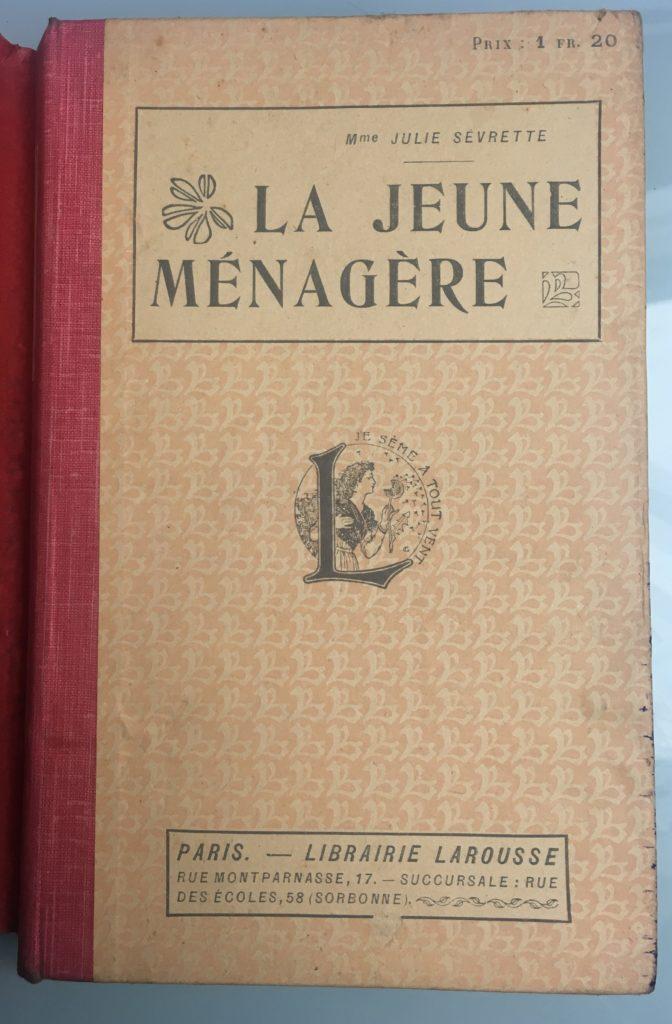 """Ouvrage """"La jeune ménagère"""" couverture"""