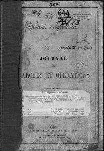 Journal de marches et opérations du 54e RI