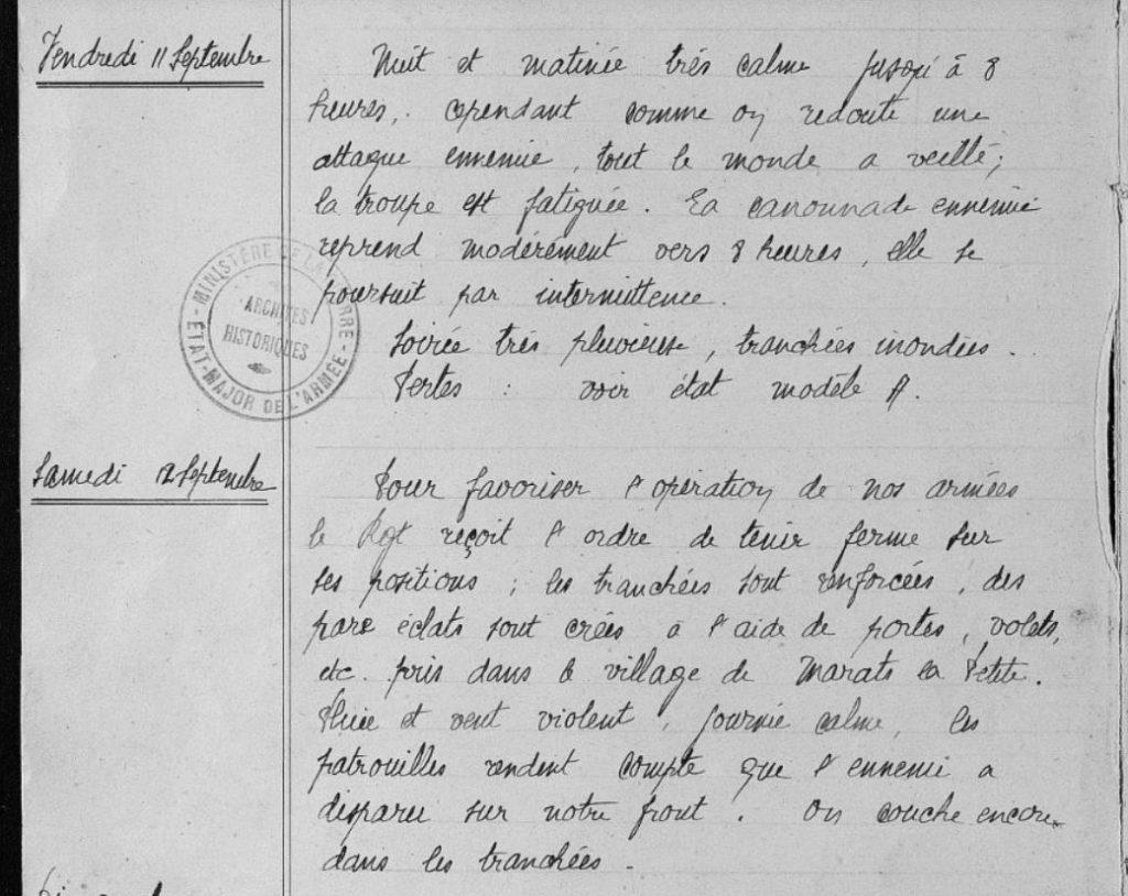 Eugène LELIEVRE - extrait du JMO du 54e RI