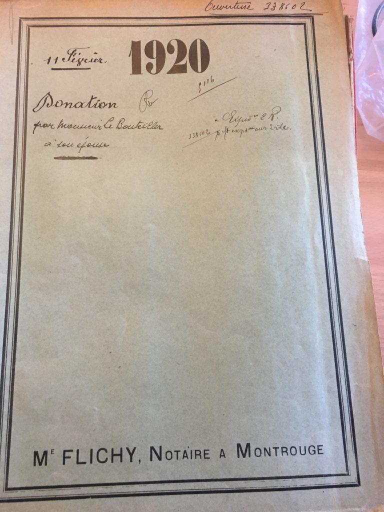 Alfred Victor LE BOUTEILLER acte de donation