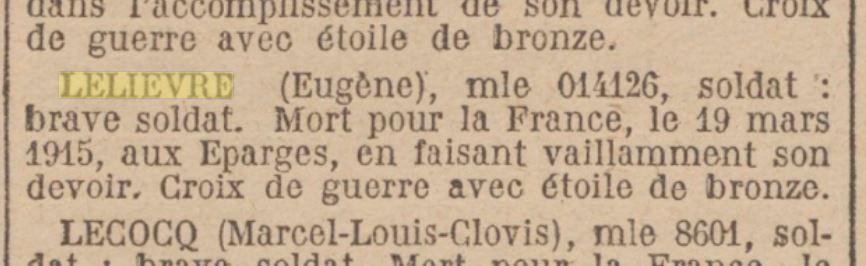 Journal Officiel 09/11/1921