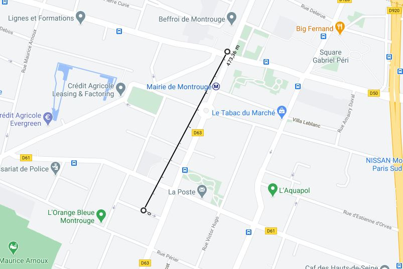 Carte de Montrouge
