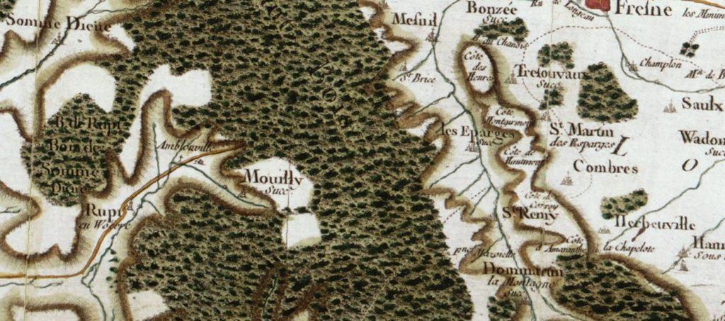 Eugène LELIEVRE - Carte de la région des Eparges