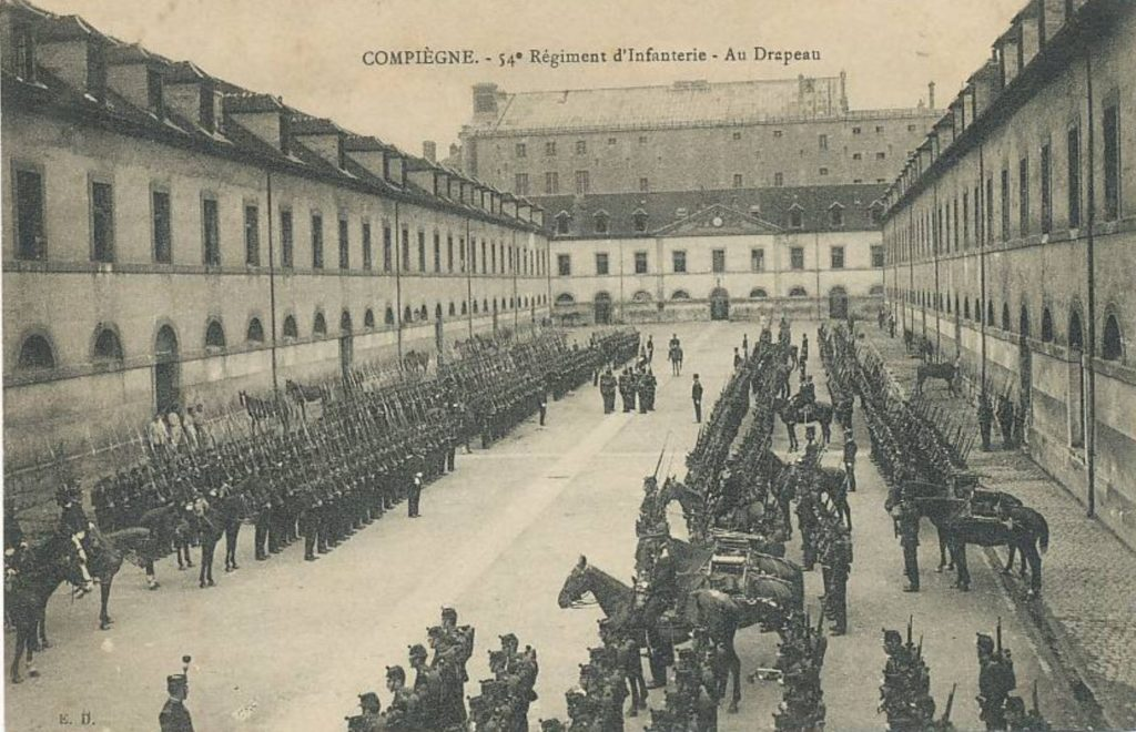 Eugène LELIEVRE - Base du 54e RI à Compiègne