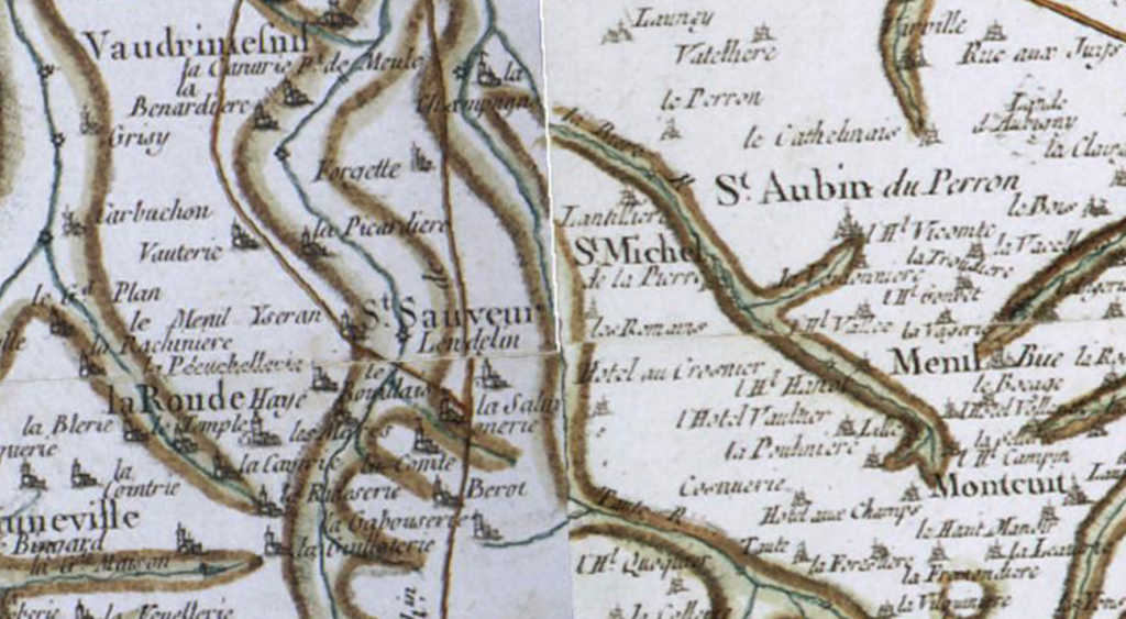 Carte de Cassini, Saint-Michel-de-la-Pierre